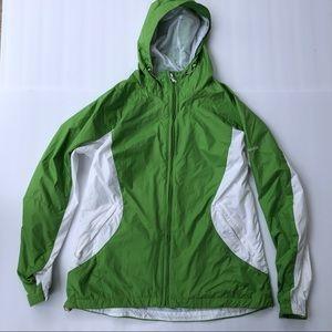 Columbia's men's green/white jacket sz Large
